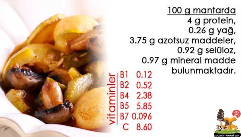 Mantar besin değerleri
